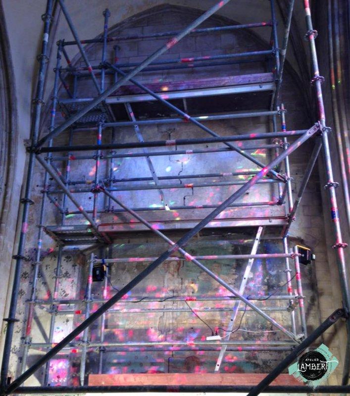 Photographie de l'oeuvre Chapelle Saint-Exupère, de Inconnu. Nature de l'intervention: Dégagement des décors. Restauration fondamentale.