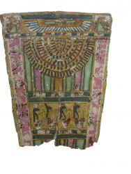 Photographie de l'oeuvre Plastron, de Artisan égyptien. Nature de l'intervention: Nettoyage et reprise de déchirrures.